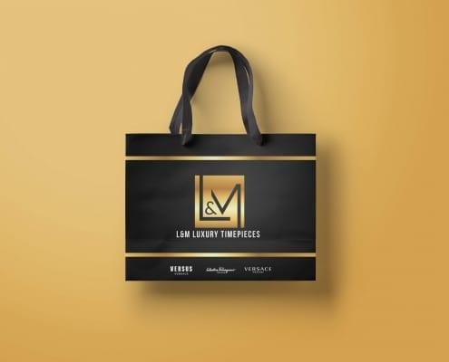 shopping bag design work